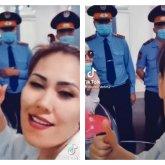 Митингующая многодетная мама сняла TikTok на фоне полицейских