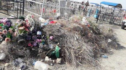Кладбище в Актау превратили в мусорную свалку